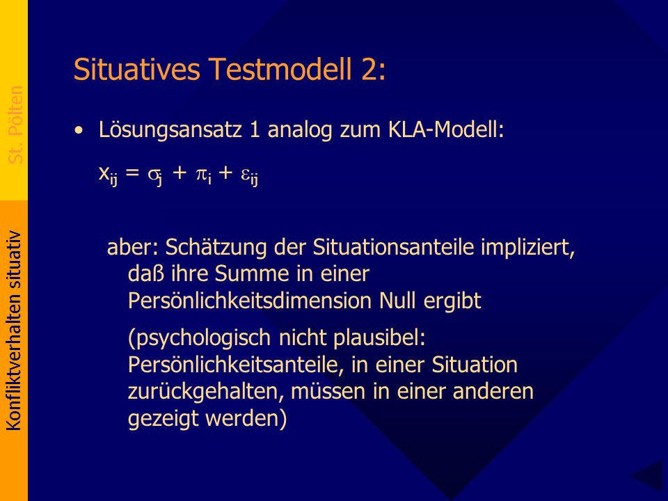 Situatives Testmodell 2: