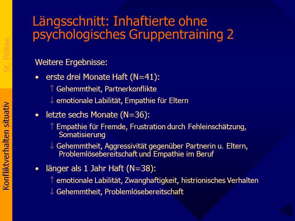 Längsschnitt: Inhaftierte ohne psychologisches Gruppentraining 2