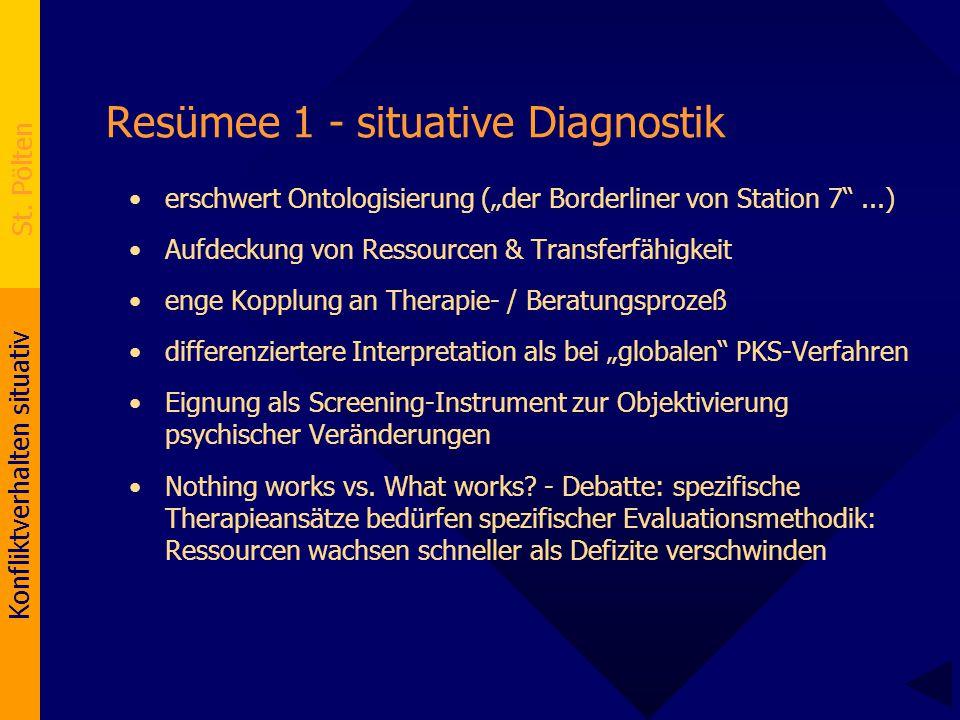 Resümee 1 - situative Diagnostik