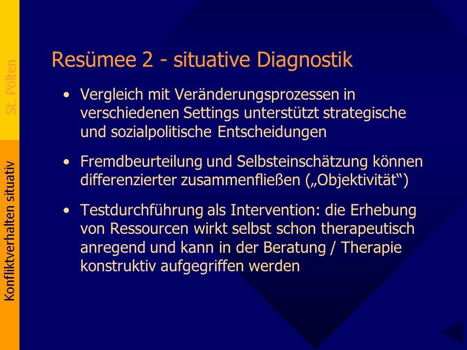 Resümee 2 - situative Diagnostik