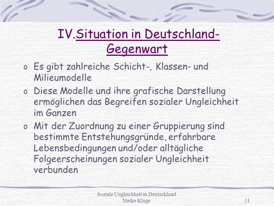 IV.Situation in Deutschland- Gegenwart