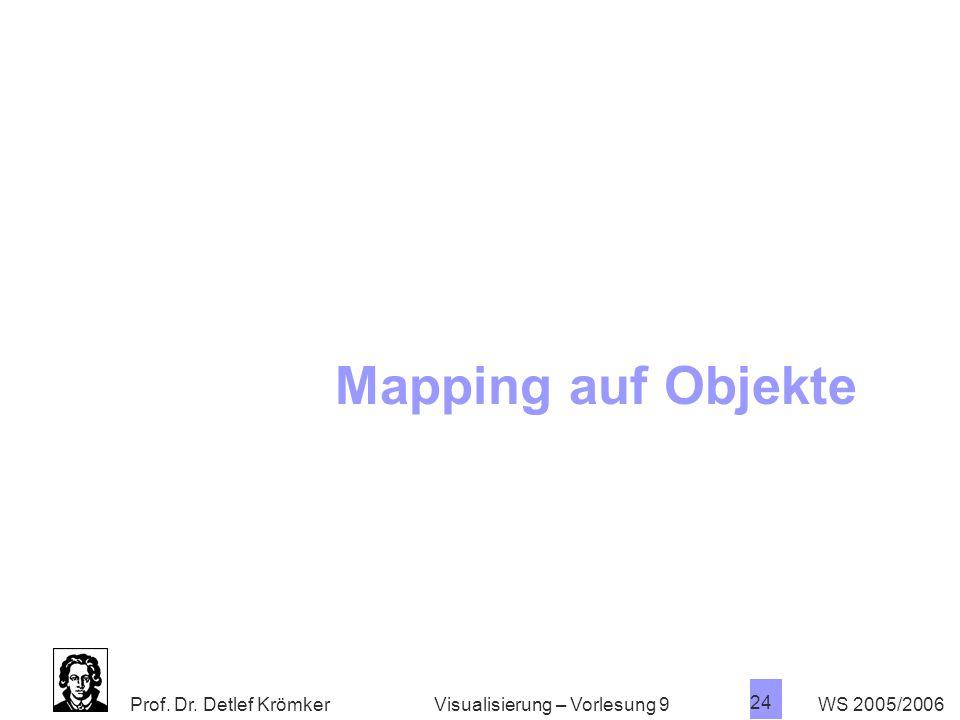 Mapping auf Objekte Visualisierung – Vorlesung 9 WS 2005/2006