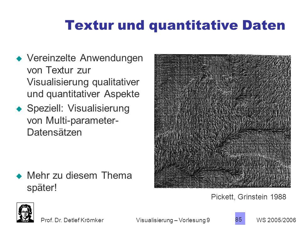 Textur und quantitative Daten