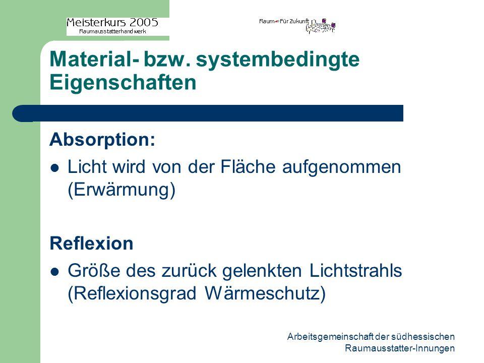 Material- bzw. systembedingte Eigenschaften