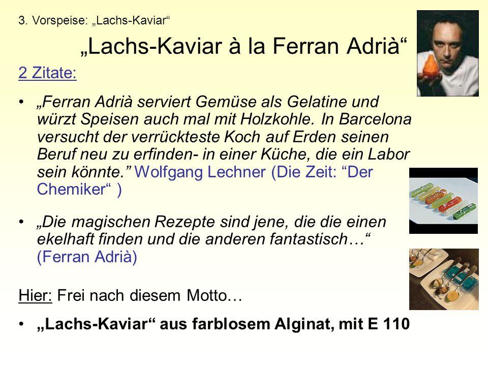 """Lachs-Kaviar à la Ferran Adrià"