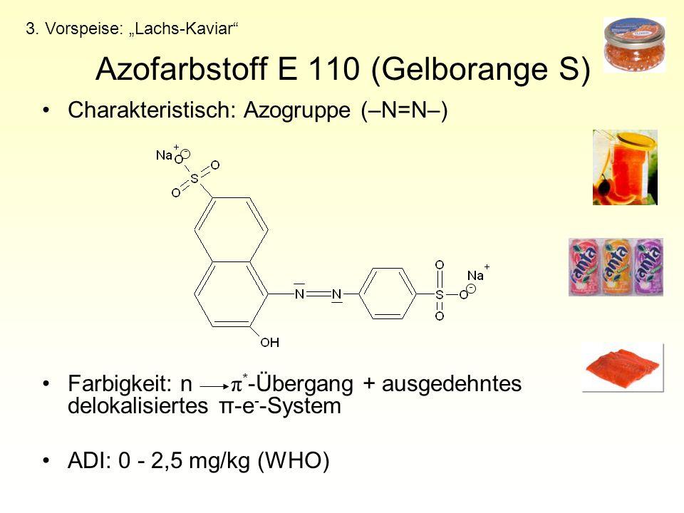 Azofarbstoff E 110 (Gelborange S)