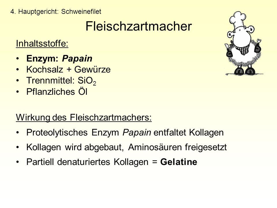 Fleischzartmacher Inhaltsstoffe: Enzym: Papain Kochsalz + Gewürze