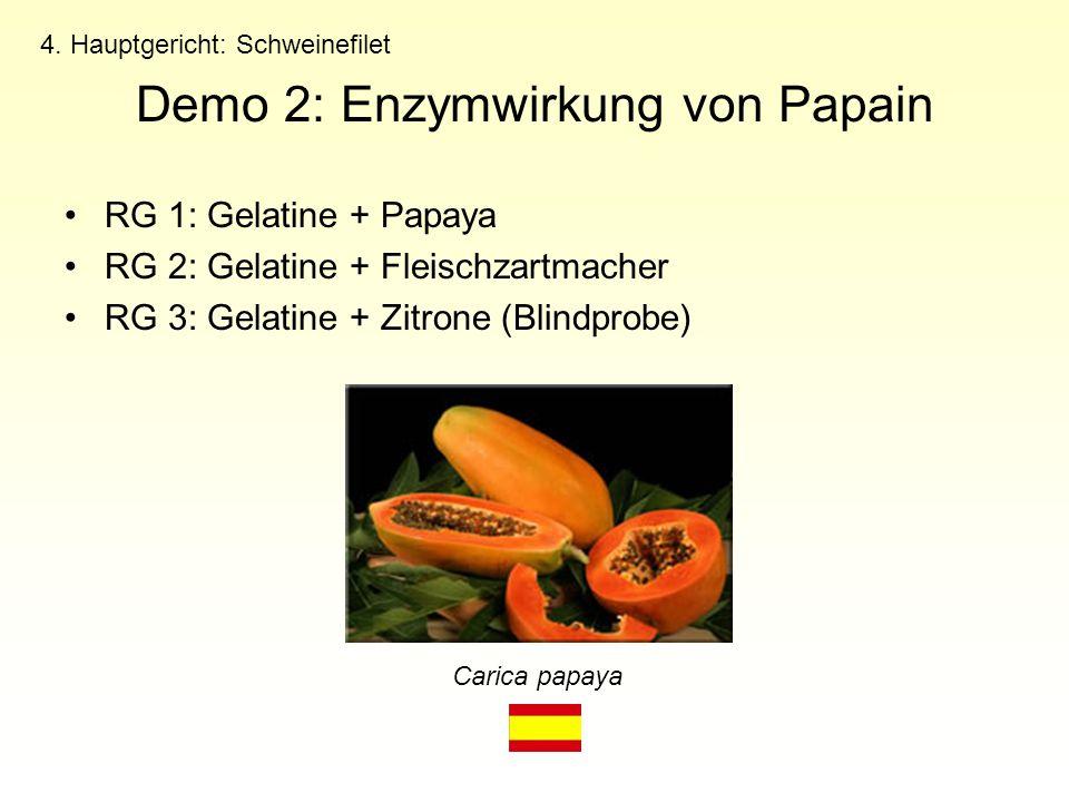 Demo 2: Enzymwirkung von Papain