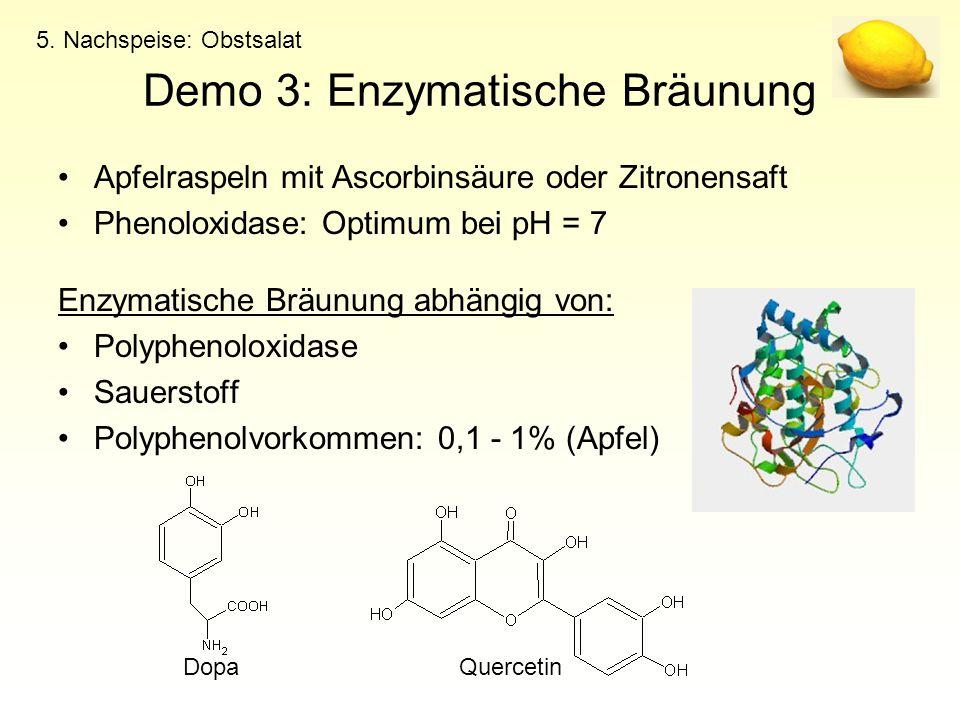 Demo 3: Enzymatische Bräunung