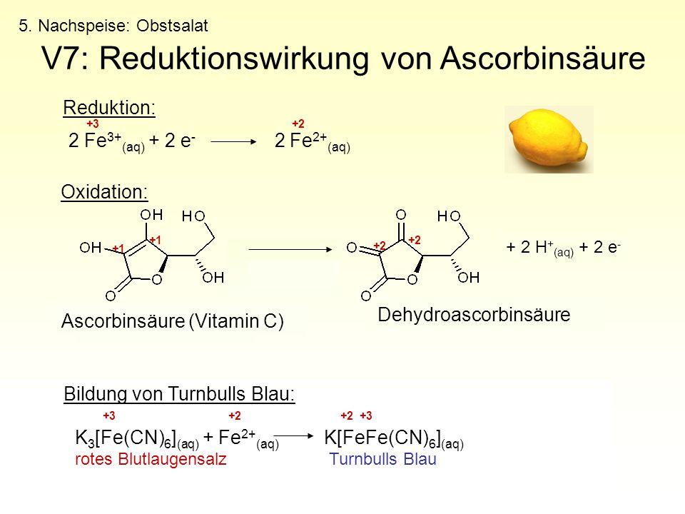 V7: Reduktionswirkung von Ascorbinsäure