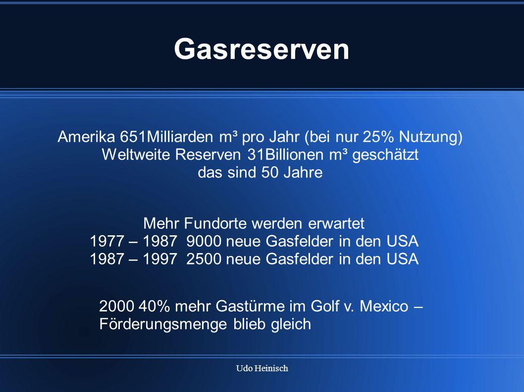 Gasreserven Amerika 651Milliarden m³ pro Jahr (bei nur 25% Nutzung)