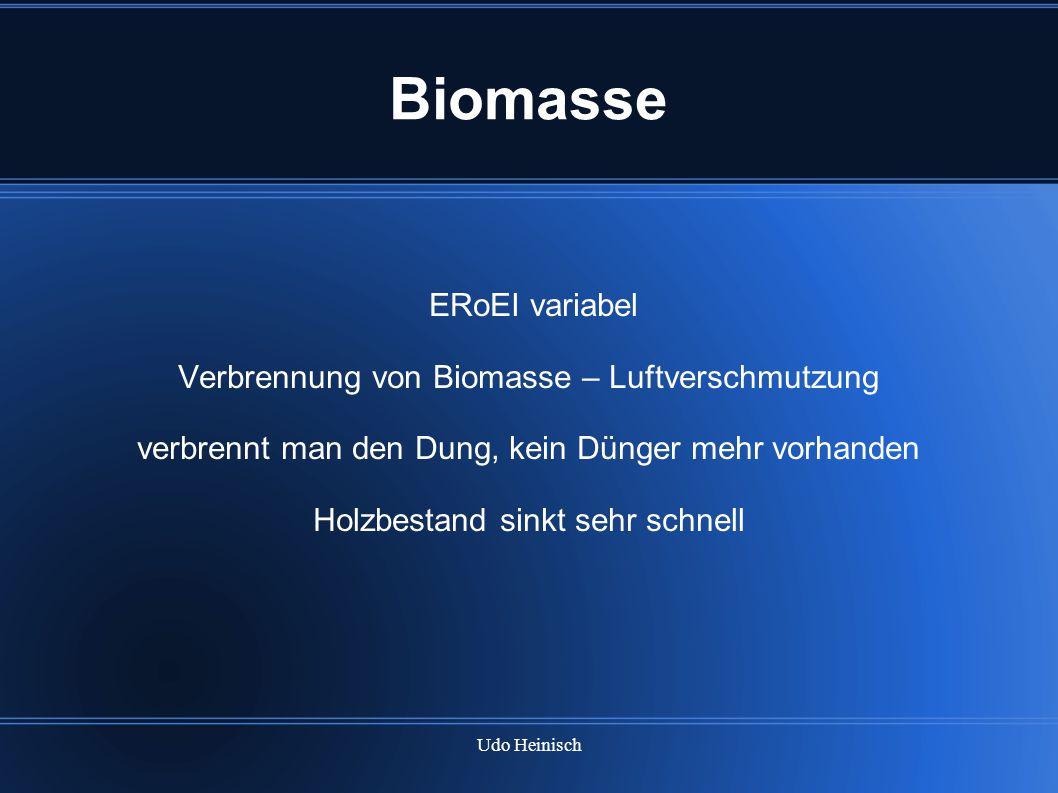 Biomasse ERoEI variabel Verbrennung von Biomasse – Luftverschmutzung