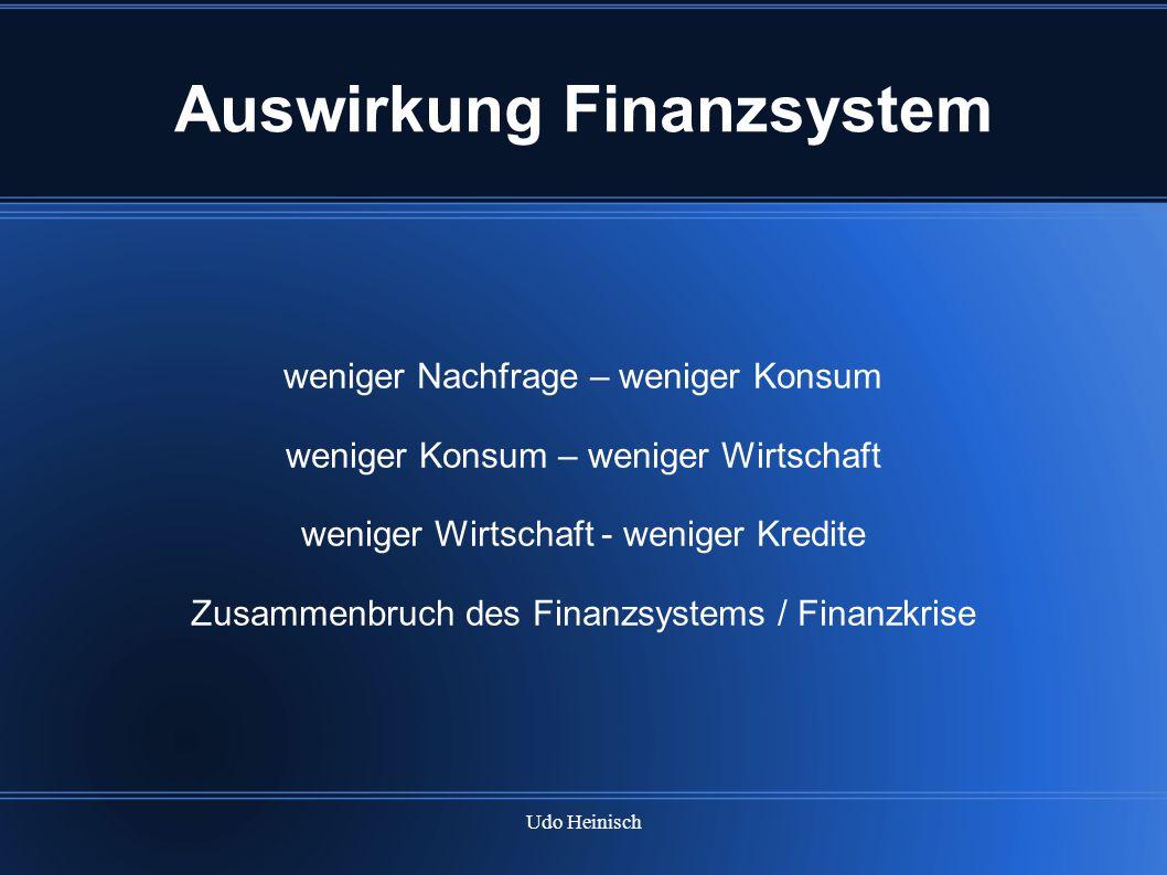 Auswirkung Finanzsystem