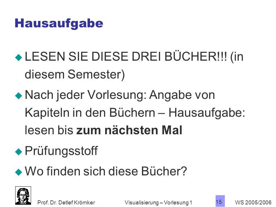 LESEN SIE DIESE DREI BÜCHER!!! (in diesem Semester)