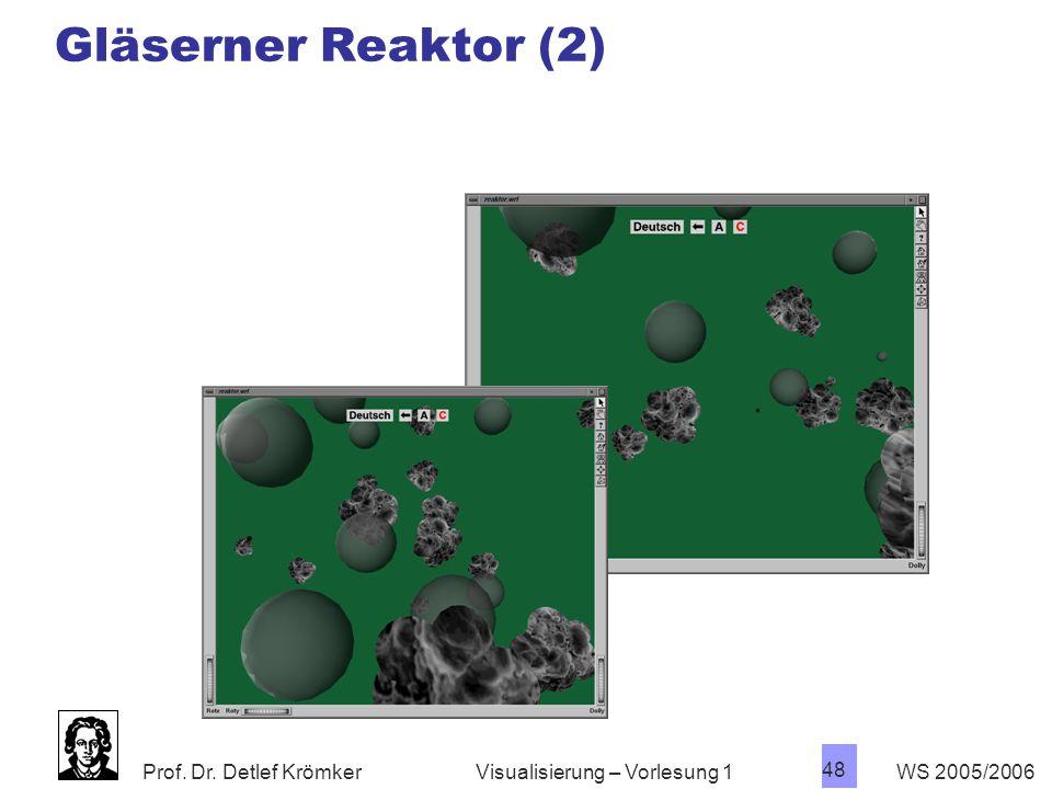Gläserner Reaktor (2) Visualisierung – Vorlesung 1 WS 2005/2006