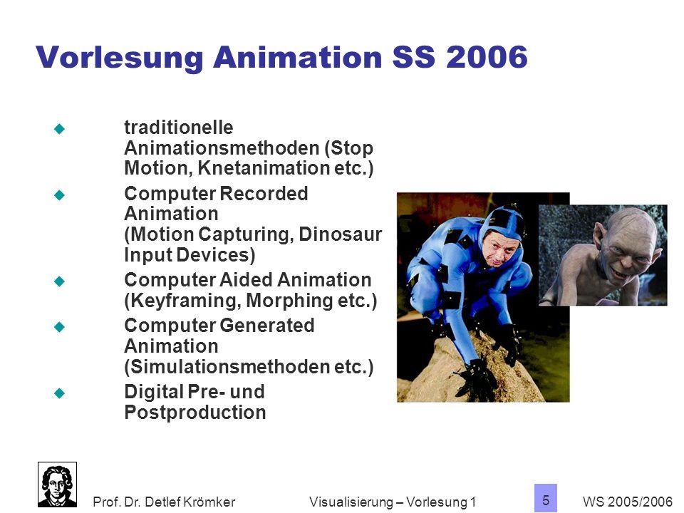 Vorlesung Animation SS 2006