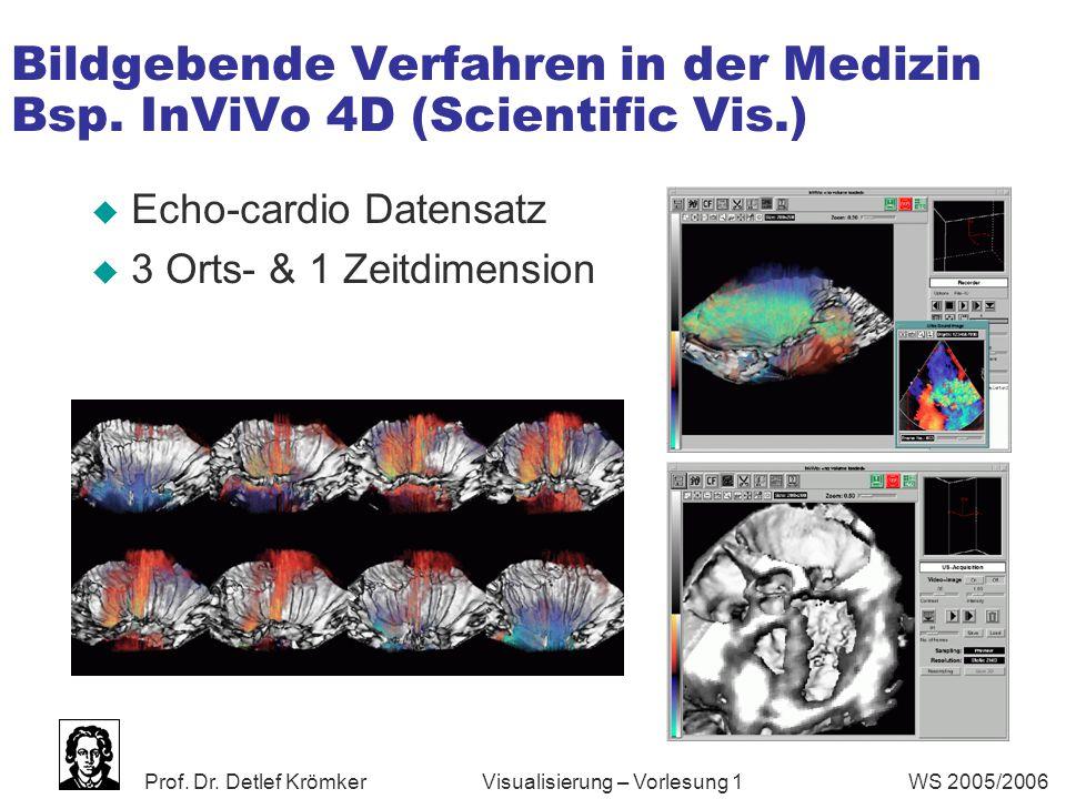 Bildgebende Verfahren in der Medizin Bsp. InViVo 4D (Scientific Vis.)
