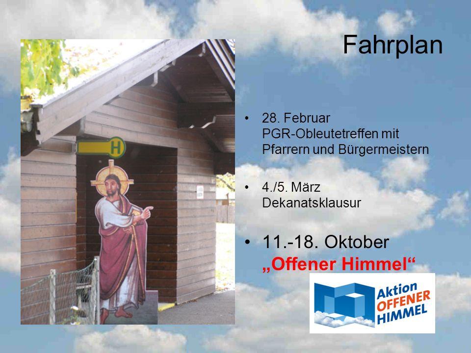 "Fahrplan 11.-18. Oktober ""Offener Himmel"