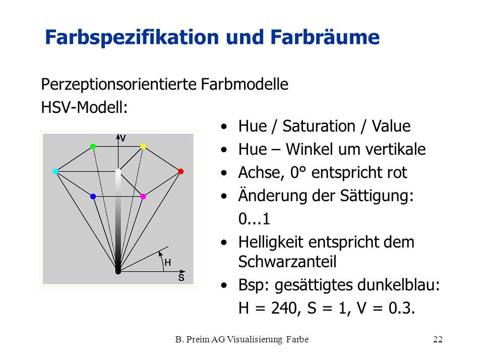 B. Preim AG Visualisierung Farbe