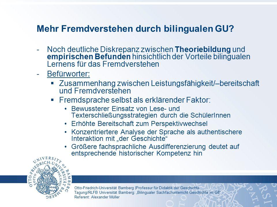 Mehr Fremdverstehen durch bilingualen GU