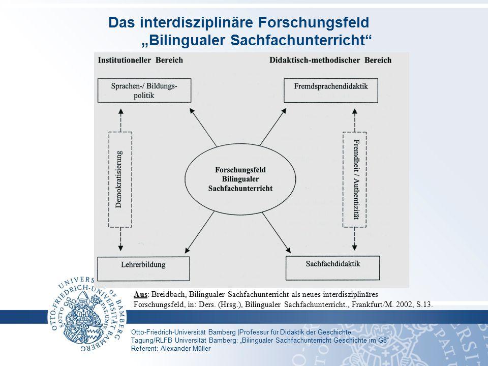 """Das interdisziplinäre Forschungsfeld """"Bilingualer Sachfachunterricht"""