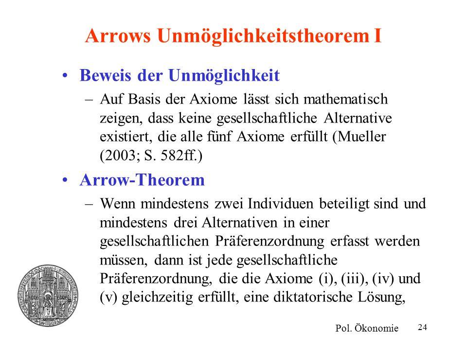 Arrows Unmöglichkeitstheorem I