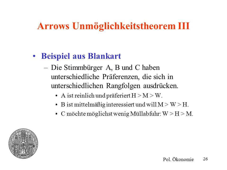 Arrows Unmöglichkeitstheorem III