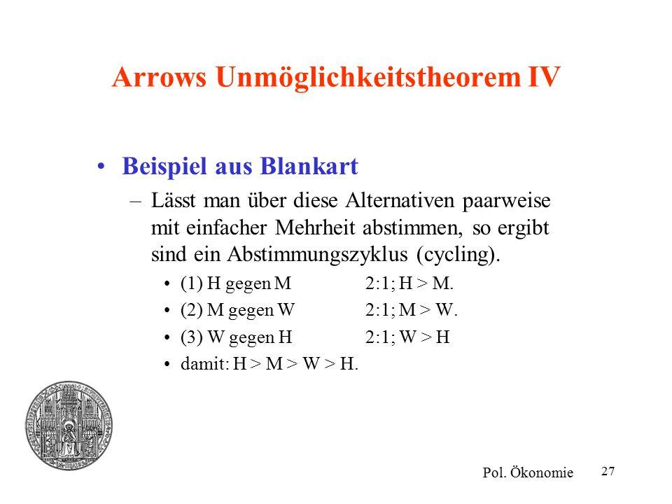 Arrows Unmöglichkeitstheorem IV