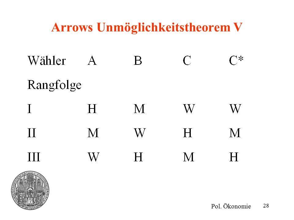Arrows Unmöglichkeitstheorem V