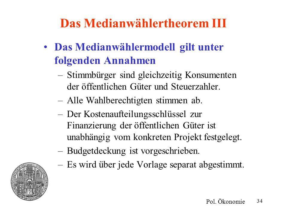 Das Medianwählertheorem III