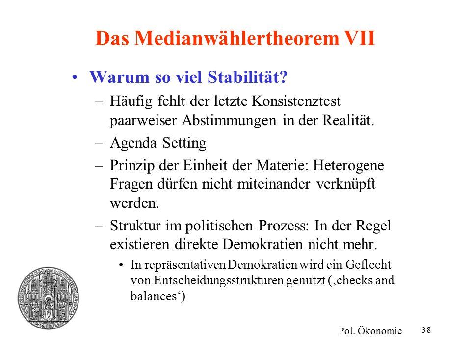 Das Medianwählertheorem VII