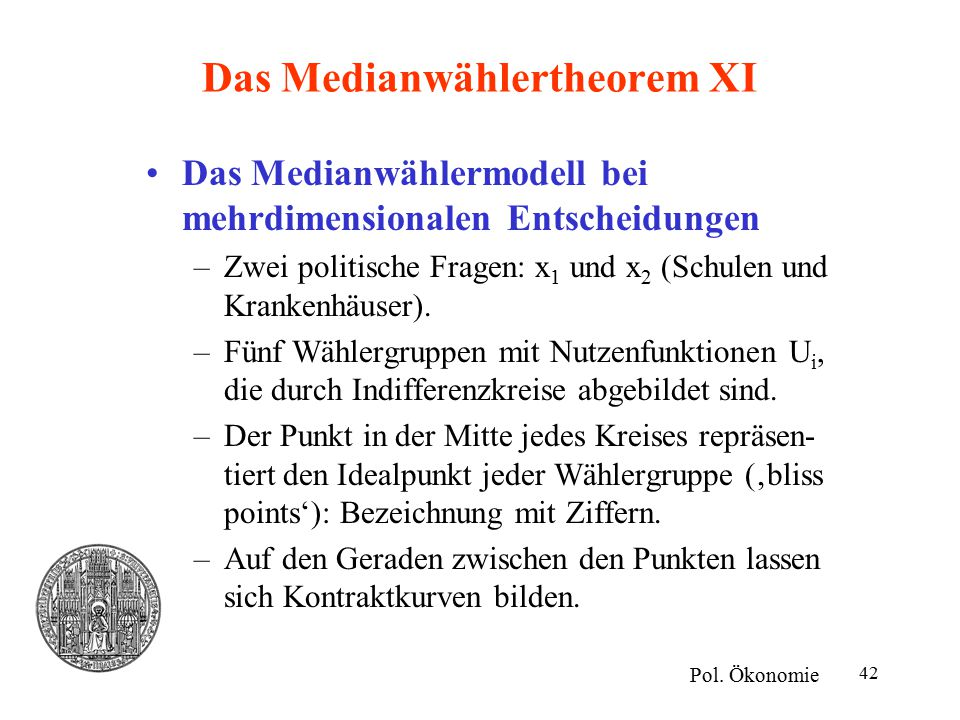 Das Medianwählertheorem XI