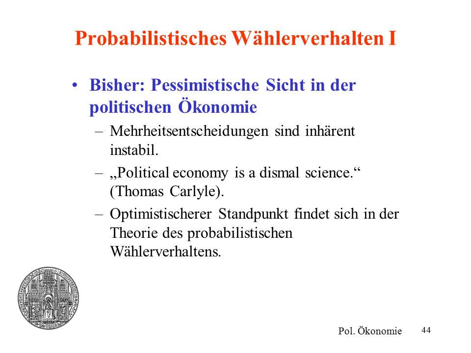 Probabilistisches Wählerverhalten I