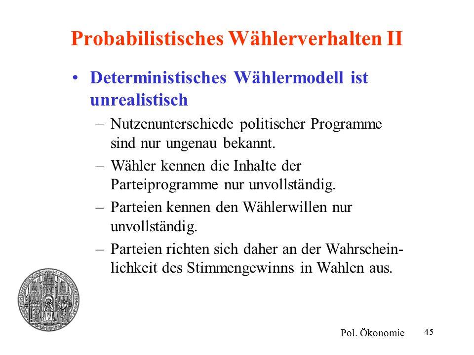 Probabilistisches Wählerverhalten II