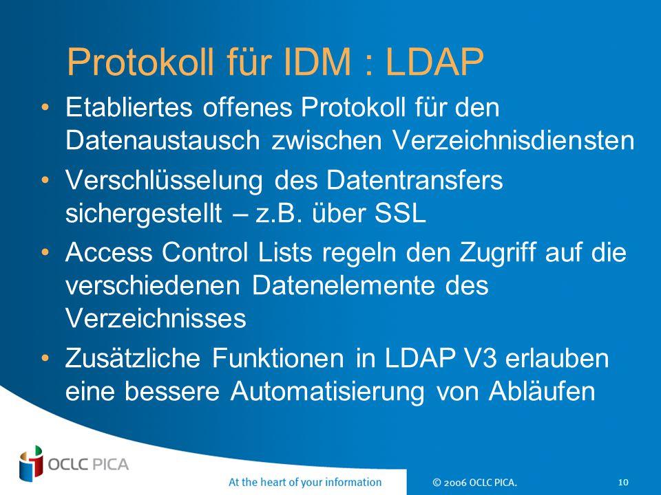 Protokoll für IDM : LDAP
