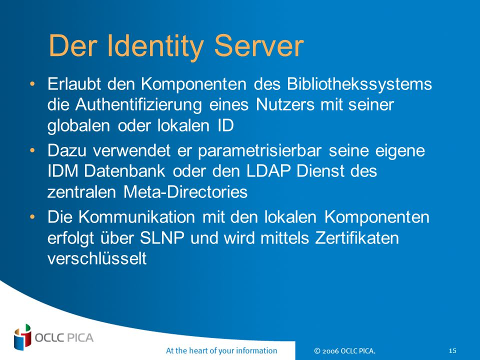 17 April 2017 Der Identity Server.