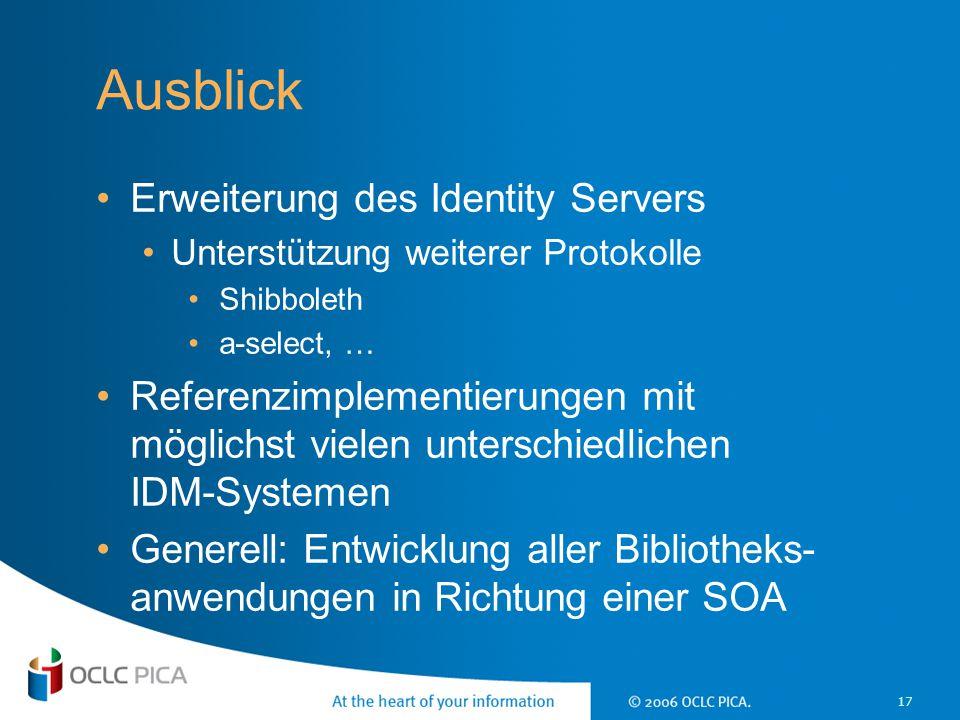 Ausblick Erweiterung des Identity Servers