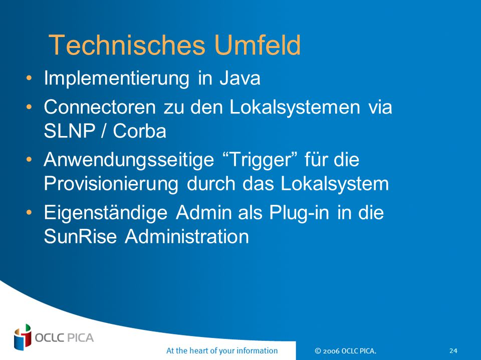 Technisches Umfeld Implementierung in Java