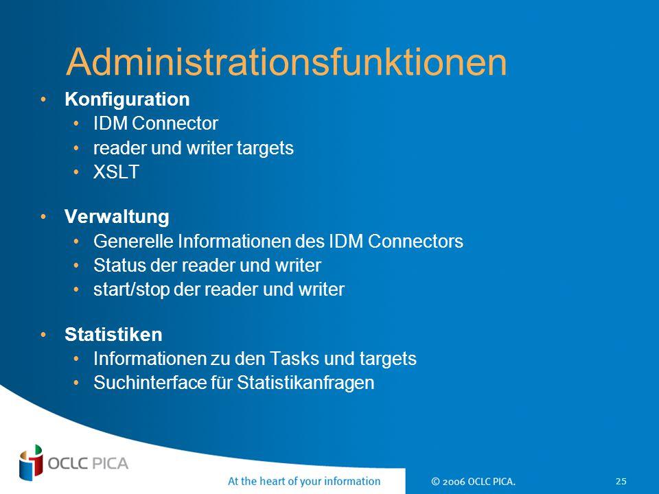 Administrationsfunktionen