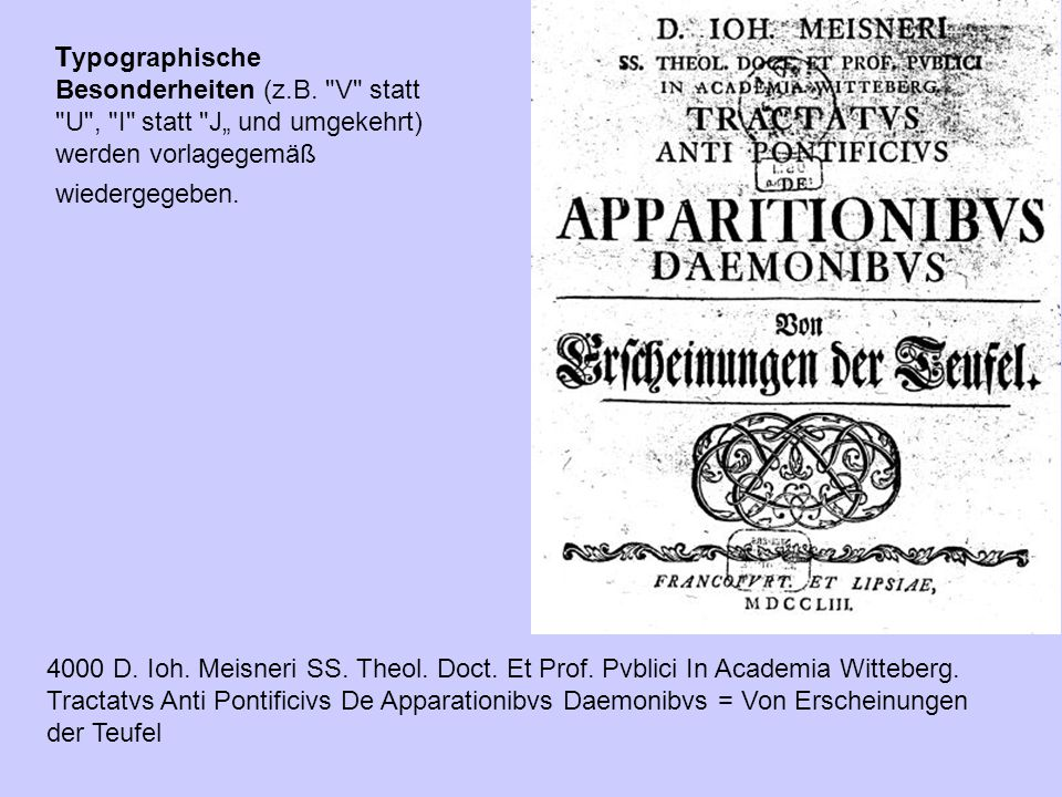 Typographische Besonderheiten (z. B