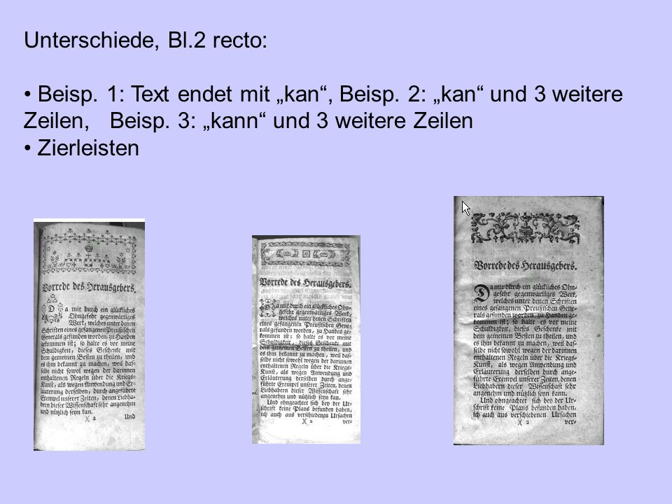 Unterschiede, Bl.2 recto: