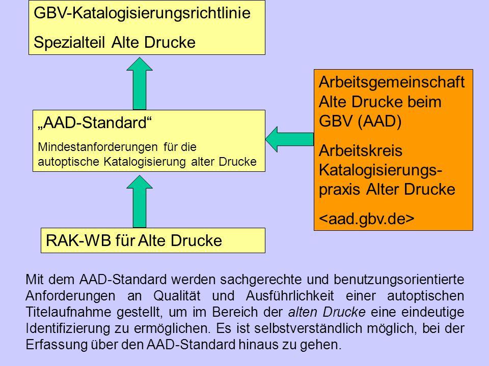 GBV-Katalogisierungsrichtlinie Spezialteil Alte Drucke