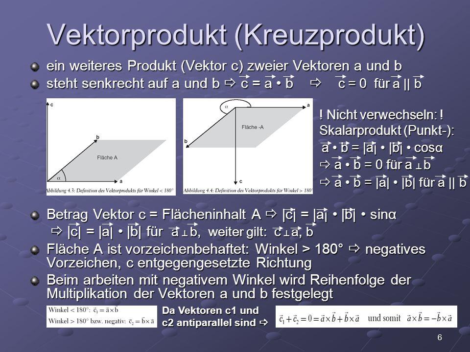 Vektorprodukt (Kreuzprodukt)
