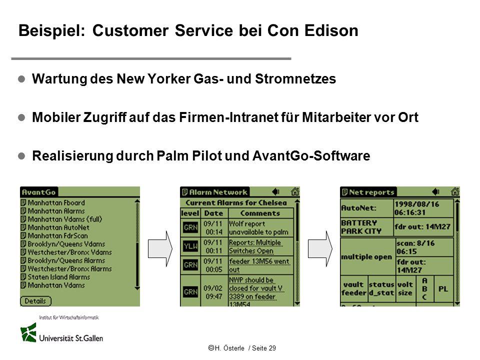 Beispiel: Customer Service bei Con Edison