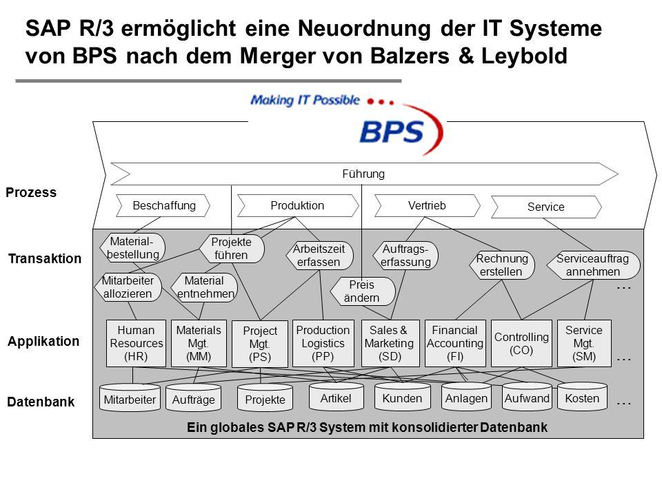 Ein globales SAP R/3 System mit konsolidierter Datenbank