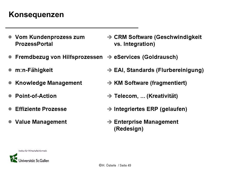 Konsequenzen Vom Kundenprozess zum ProzessPortal