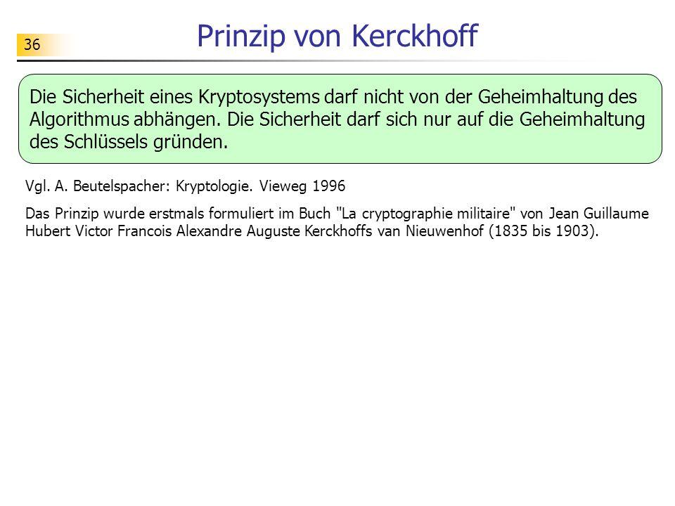 Prinzip von Kerckhoff