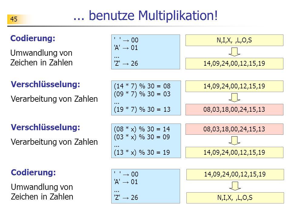 ... benutze Multiplikation!