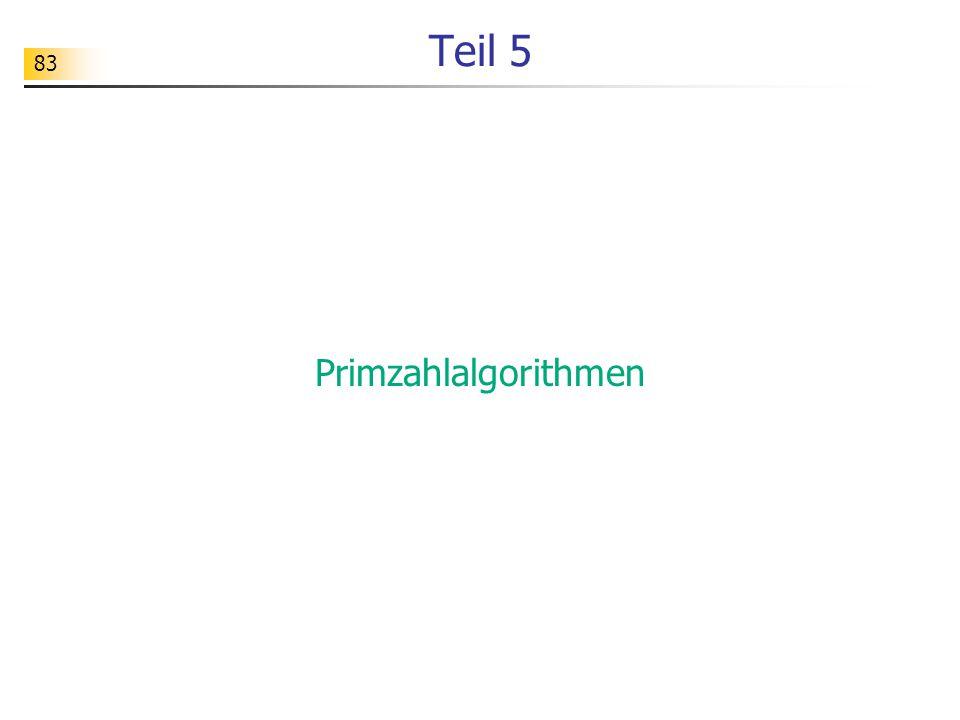Teil 5 Primzahlalgorithmen