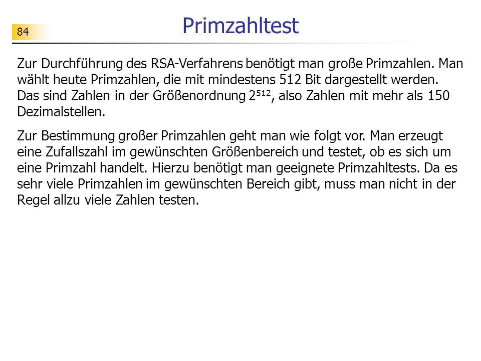 Primzahltest